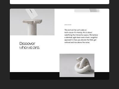 makemepulse website - Landing page detail design layout type