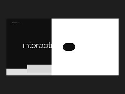 makemepulse website - Landing page focus sphere studio cursor portfolio agency interface motion animation layout type
