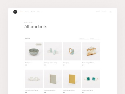 ism - Product list website eshop artisan list shopify product layout type editorial e-commerce