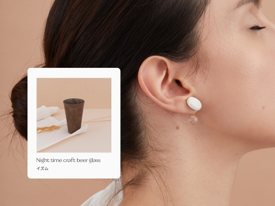 ism - product card website jewelry japanese earrings beauty fashion e-commerce cart card product