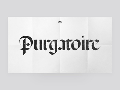 Texture experiment gothic paper graphic design typeface typography texture type