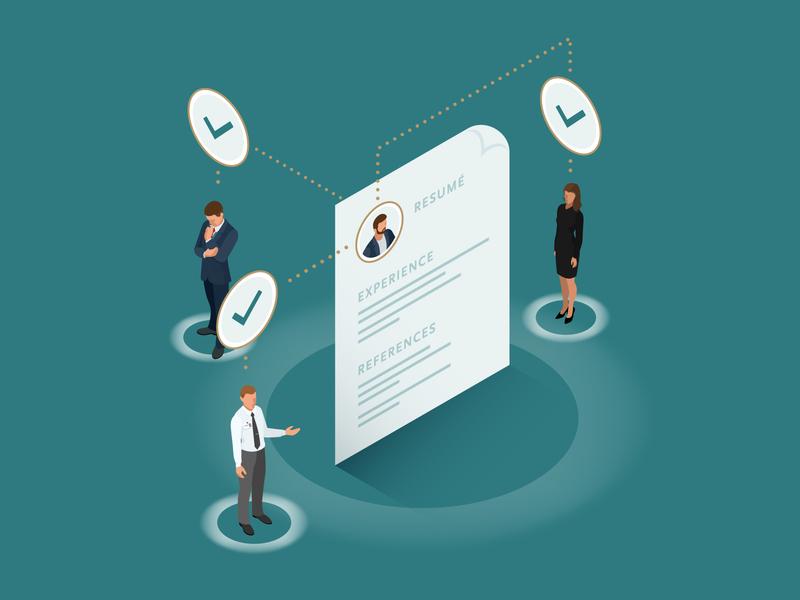 Isometric Illustration 1 employment isometric recruiting resume business illustration