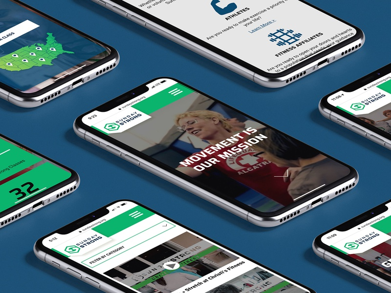 Sunday Strong Website web design ui mobile accessibility fitness wellness health