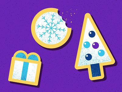 Christmas Cookies illustration snowflakes sugar presents gifts ornaments christmas tree treats christmas cookies