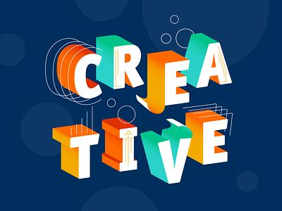 Creative type expressive gradient typogaphy creative