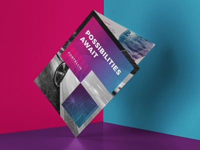 Brochure Design print blue pink ai brochure