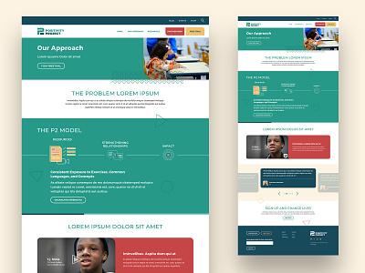 Interior Page Concept children community green approach visual design ui web design