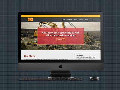 Construction Desktop Design bold blueprint construction ui web design website homepage desktop