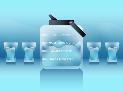 Stay Hydrated blue vector illustration