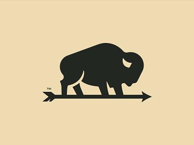 Bison logo branding vector illustration bison