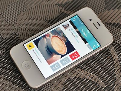 Cupped App [iOS 7] ios7 ios apple iphone white black dark light red gray blue green