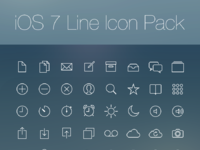 Ios 7 line icon pack