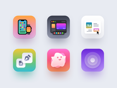 Presentation Icons light dark orange green purple pink colorful user experience user interface ux ui design ui icon design icon vector design illustration clean minimal white