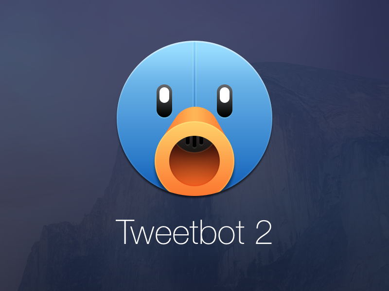 Tweetbot 2 icon os x app blue orange white black pink yosemite flat mac