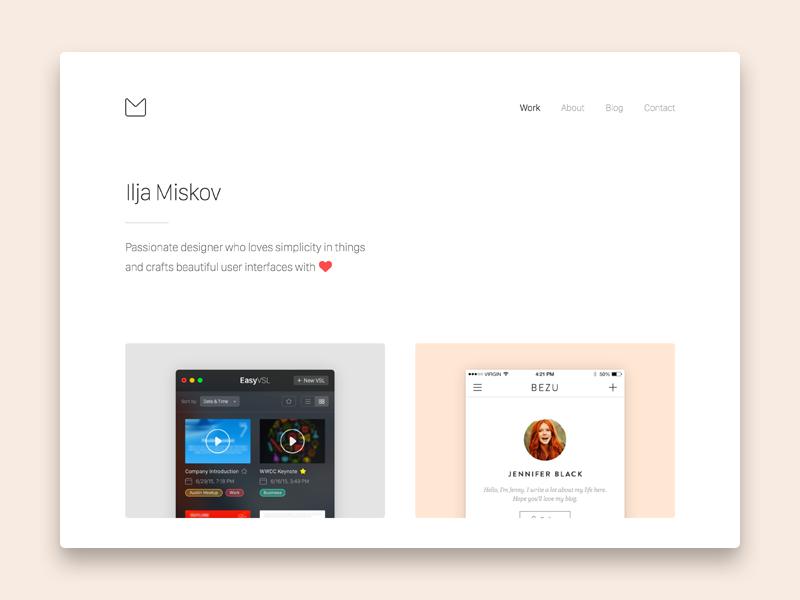 New Portfolio Sneak Peek gold clean minimalist minimal white webdesign ux ui web portfolio