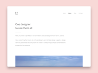 About Page portfolio webdesign web ux ui clean white minimalist minimal about