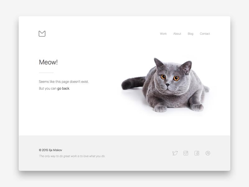Page 404 about minimal minimalist white clean ui ux web webdesign portfolio