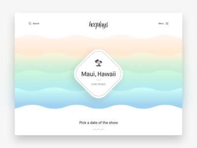 Hooplays Landing Page colorful clean design ux ui web website hooplays