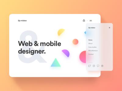 Portfolio Sneak Peek white colorful clean redesign portfolio website web ux ui design