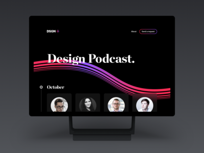 Design Podcast clean website web ux ui microsoft surface dark black design podcast