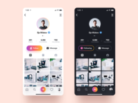 Instagram Profile apple flat branding minimalism colorful gray vector design dark iphone interface clean ios minimal ux ui black white