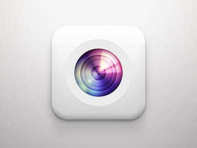 Camera iOS Icon camera icon ios white red pink magenta yellow green blue lightblue gray