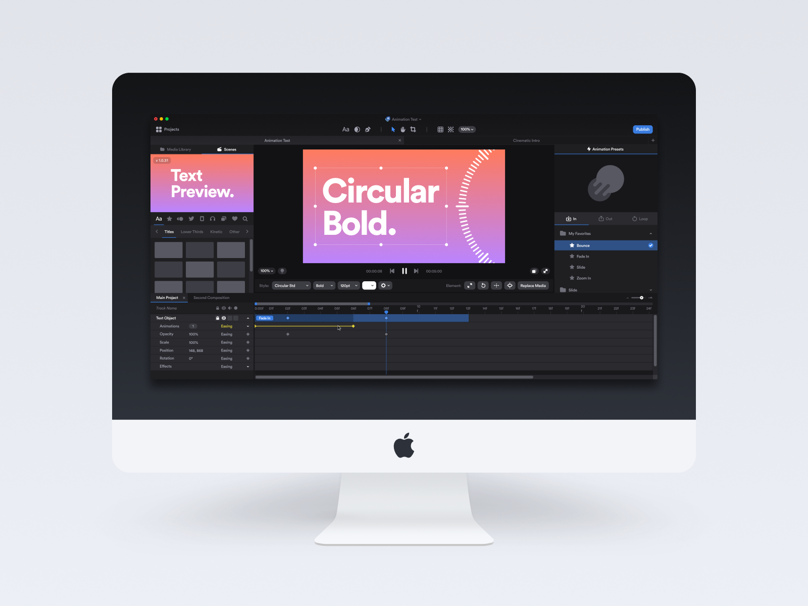 Motion Effects Editor UI