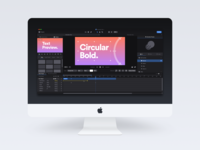 Motion Effects Editor UI mac os mac dark black interface clean minimal ux ui white