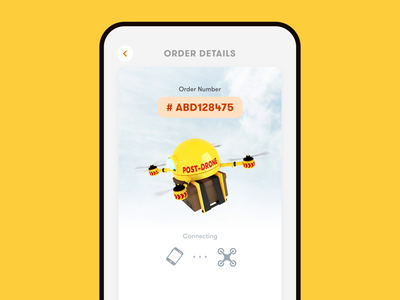 Drone delivery mobile app delivery time order number post-drone delivery map drone mobile amination 3d