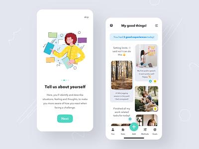 MindFit App mobile dashboard mobile design ui clean ui mindfulness onboarding mobile app