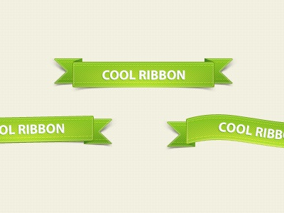 Little green ribbons - free psd