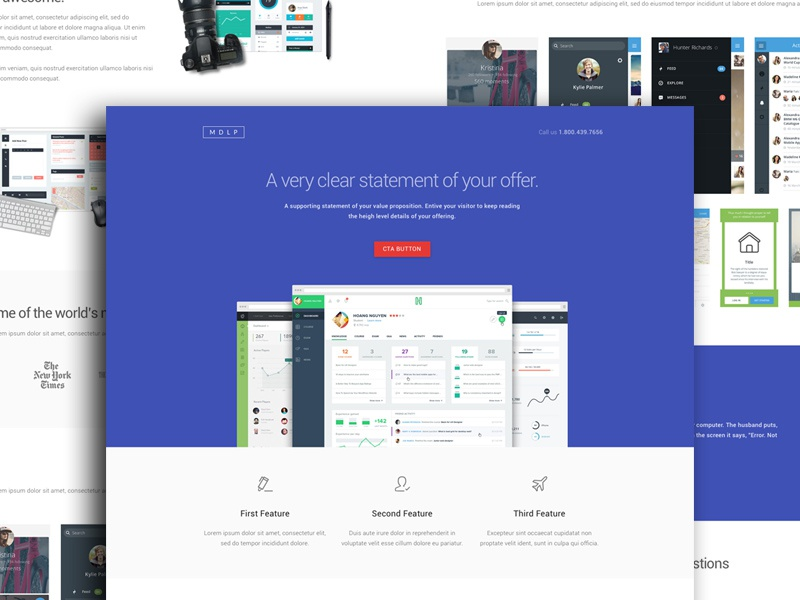 MDLP - Material Design Landing Page material design landing page materialup ccd conversion centered design conversion template html css