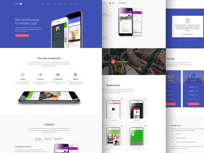 MDLP 2 - Material Design Landing Page material design lite css html template conversion conversion centered design ccd materialup landing page material design