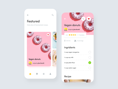Recipe App ui kit ui partner desgn system partner design system app mobile mobile app recipes recipe food