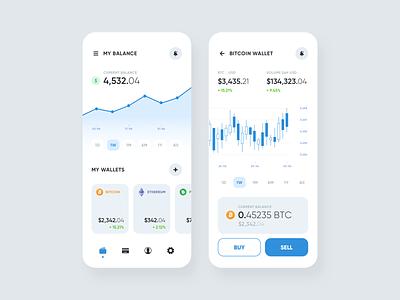 Wallet App cryptocurrency bitcoin ios mobile partner design system design system clean mobile app wallet