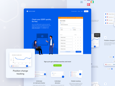 What's my SERP Landing Page illustrations serp check serp ux ui design website landing page