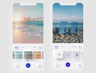 A Picture Editing Design... inspired by Pinterest xd design camera app uxdesign photography app ui  ux ui softui ux uidesign