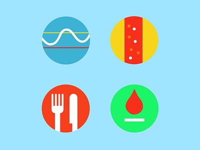 Diabetes Guru icon ui illustration app health simple kids children kit menu interface blood