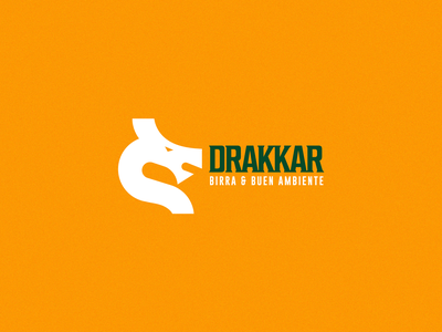 Drakkar 1 typography icon imagotipo imagotype design logotype logo branding dragons beer and food beer dragon drakkar