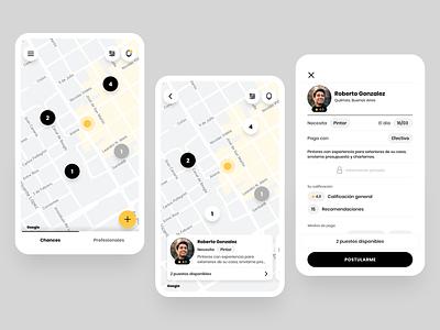 Chances ui map app design mobile app design app mobile design uidesigns mapping maps uiux uidesign ui design map ui