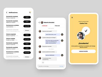 Chances ui message app design design app notify notifications notification message mobile design ux app ui design uidesign ui