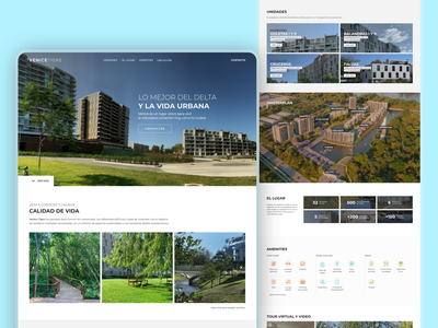 OnePage real state property design web web designer web design webdesign home homepage landingpage onepage