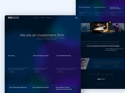 Option 1 ui ui design concept web designer web design webdesign uidesign invest investing finance partner investments investor investment