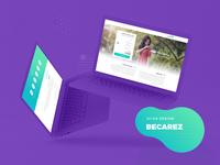 Becarez Landing page UI/UX
