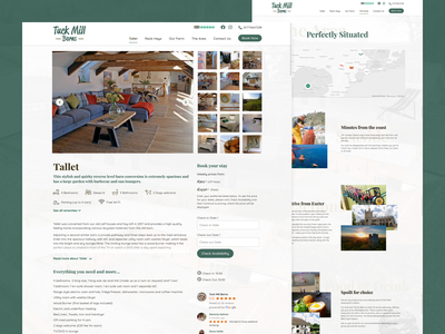 Holiday Cottages Site Design luxurious luxury holiday travel countryside self catering holiday cottage website holiday cottages farm website farm homepage design web design