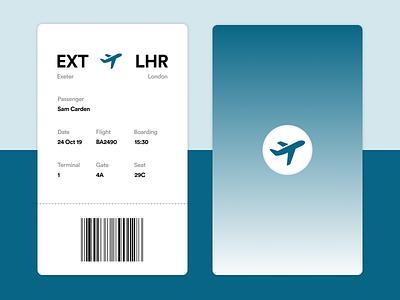 Minimal Boarding Pass (Daily UI 024) plane icon vector icon simple design clean design minimal boarding pass boarding pass daily ui 024 daily ui
