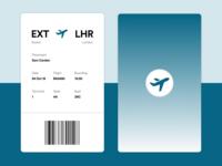 Minimal Boarding Pass (Daily UI 024)
