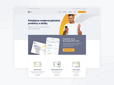 SPPS.sk website homepage landing page uiux skpay spps menu navigation layout fintech marketing web ui design ui webdesign website