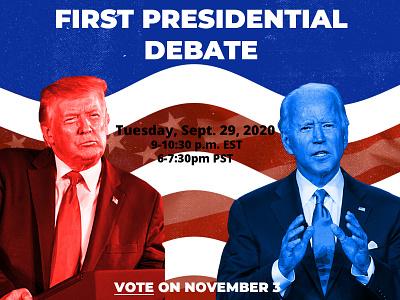 First Presidential Debate Flyer flyer design campaign president presidential election voting graphic design design