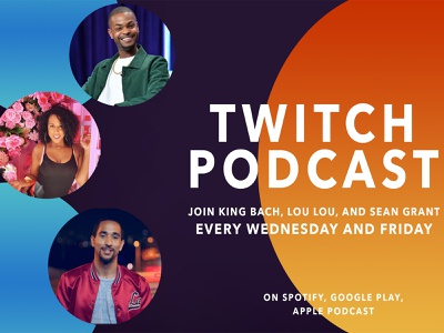 Twitch Podcast_ Just Chatting graphic design podcast promotion promo branding design